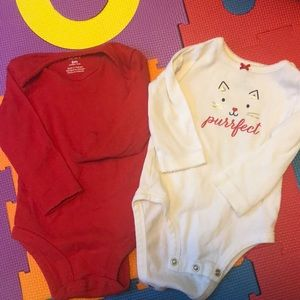 2 for $5 girls long sleeve onesies